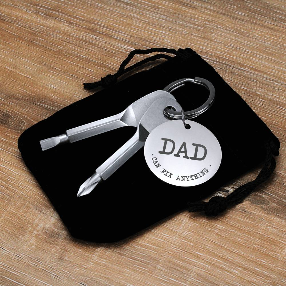 DAD Can Fix Anything Screwdriver Keychain
