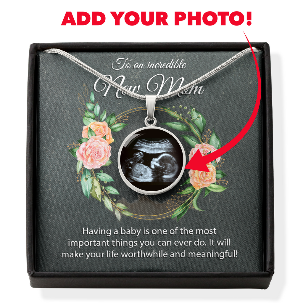 To An Incredible New Mom Custom Photo Necklace