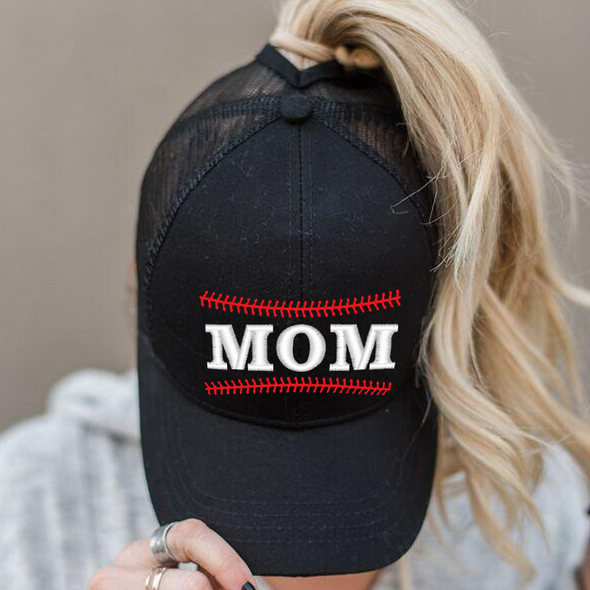 Ponytail Baseball Mom Hat