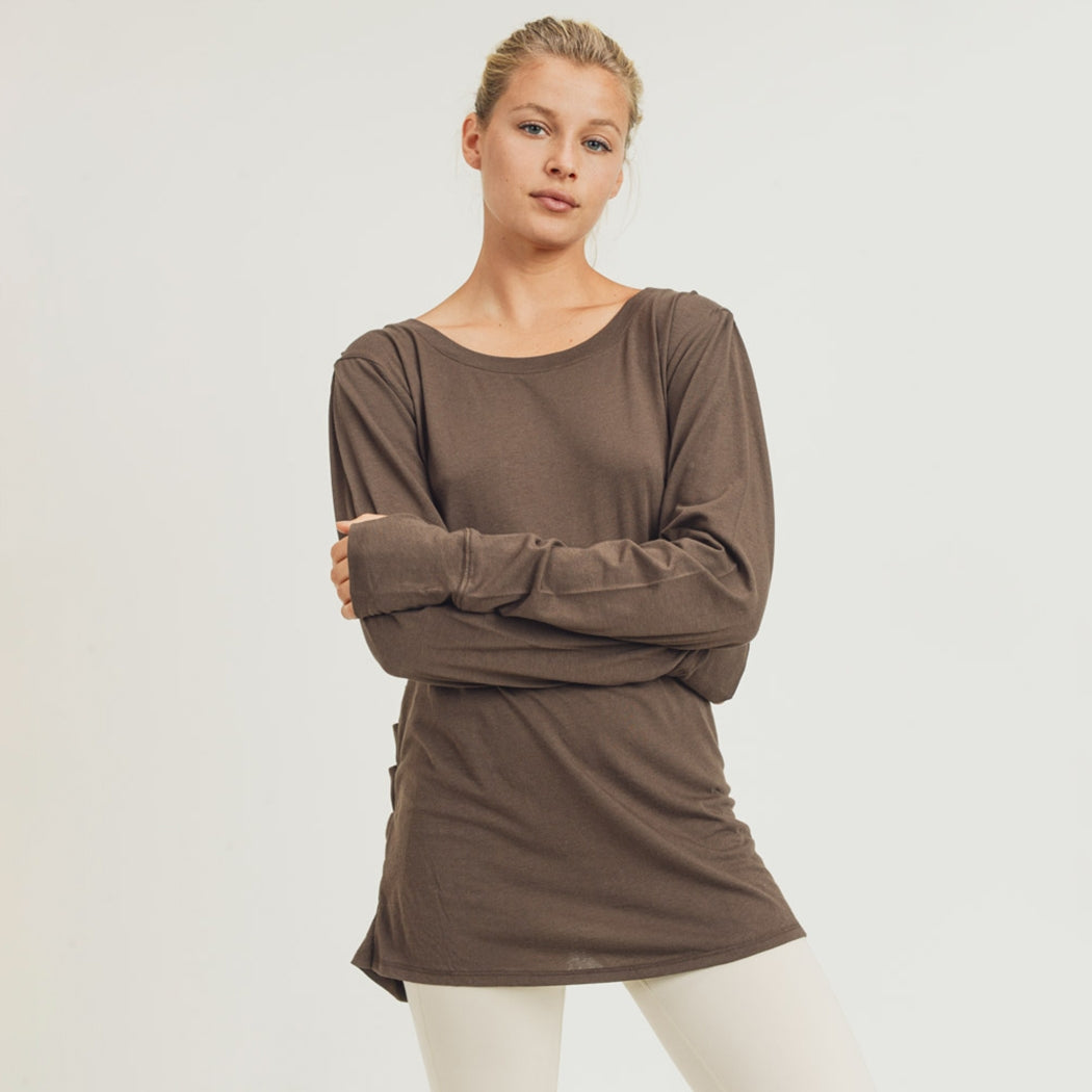 Open Overlay Draped Back Top