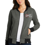 Ladies French Terry Baseball Mom Full-Zip