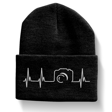 Camera Heartbeat Beanie