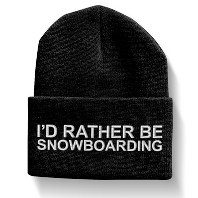 I'd Rather Be Snowboarding Beanie