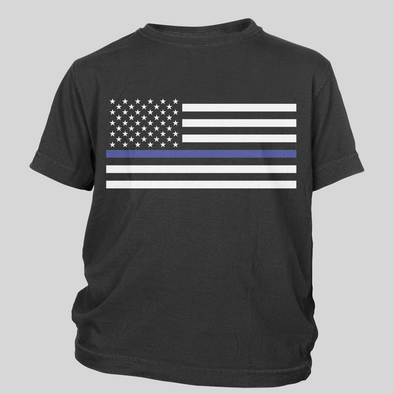 Thin Blue Line Flag Toddler Tees