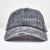 Distressed Ladder High Ponytail Hat