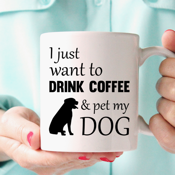 Drink Coffee Pet Dog