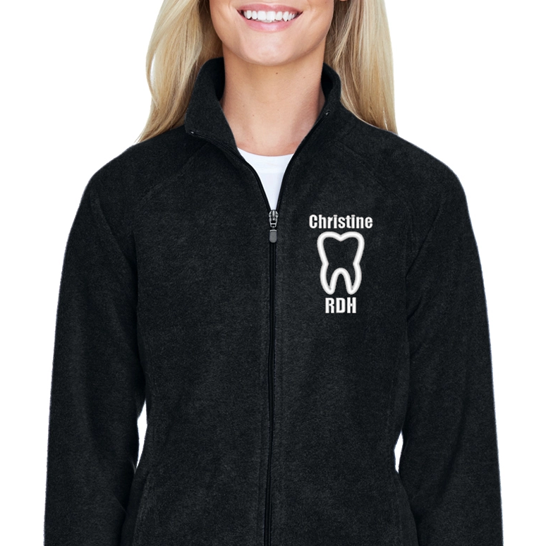 Ladies Microfleece Personalized Dental Jacket