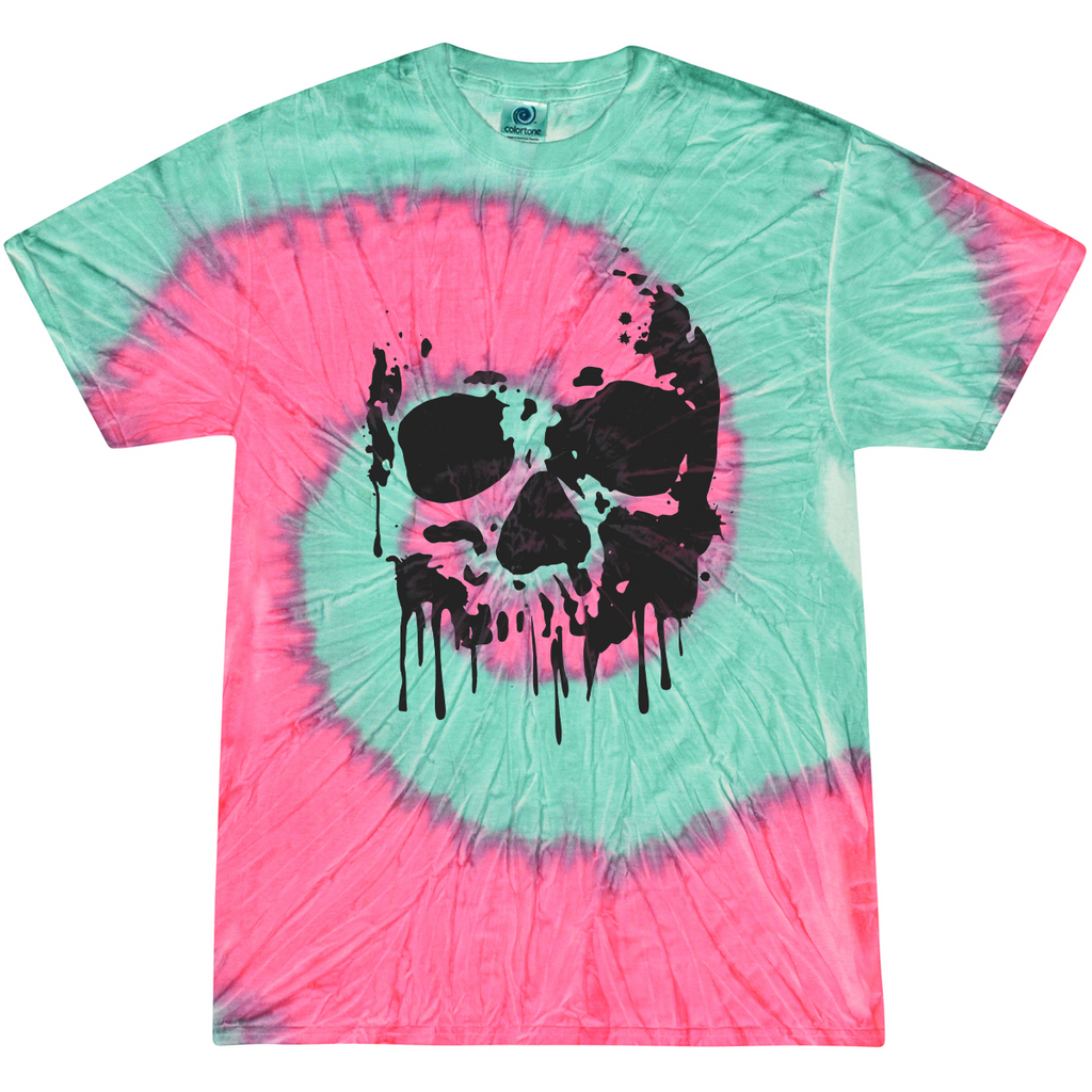 Drippy Skull Tie-Dye Shirt
