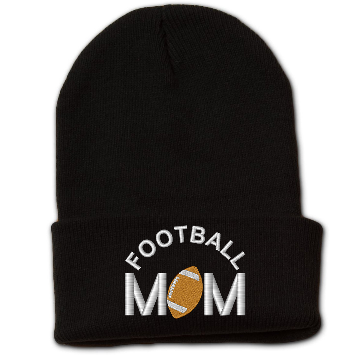 Football Mom Beanie w Cuff