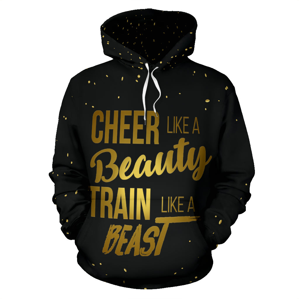 Cheer Like A Beauty Train Like A Beast Hoodie