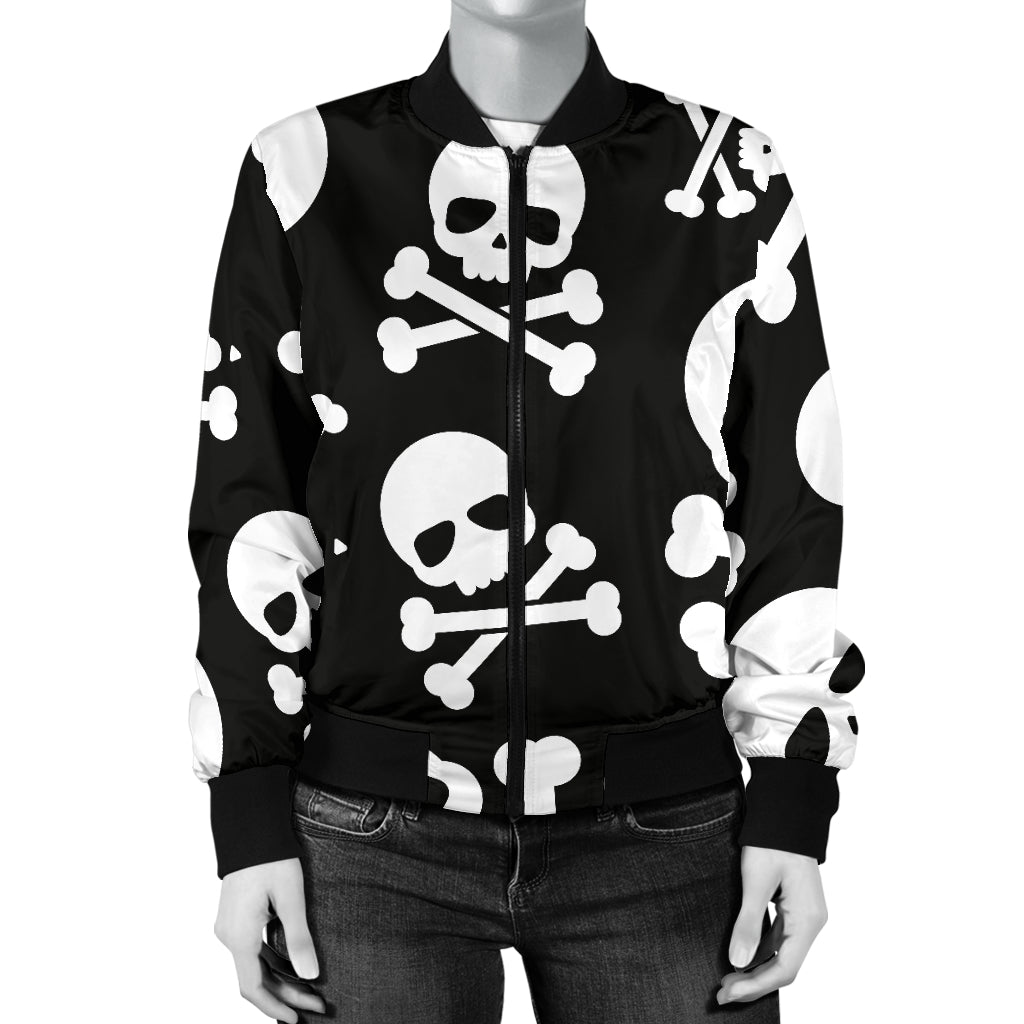 Skull & Crossbones Women's Bomber Jacket