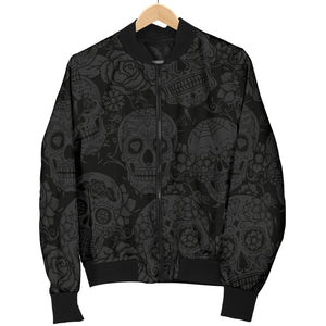 Dark Sugar Skull Women's Bomber Jacket