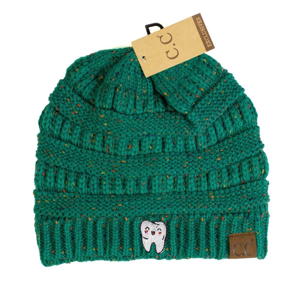 Happy Tooth Flecked CC Beanie – Shop With Cre d56f85411417