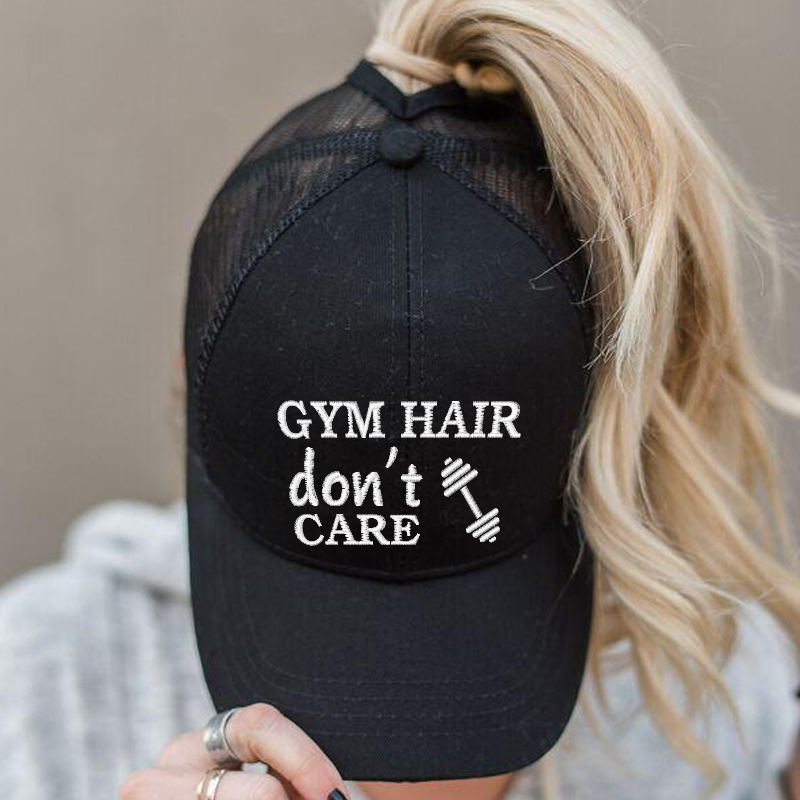 Ponytail Gym Hair Don't Care Hat