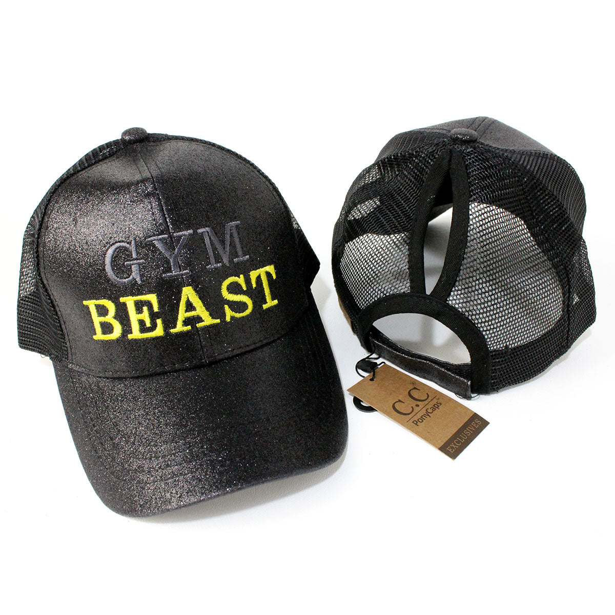 Ponytail Gym Beast Glitter Hat