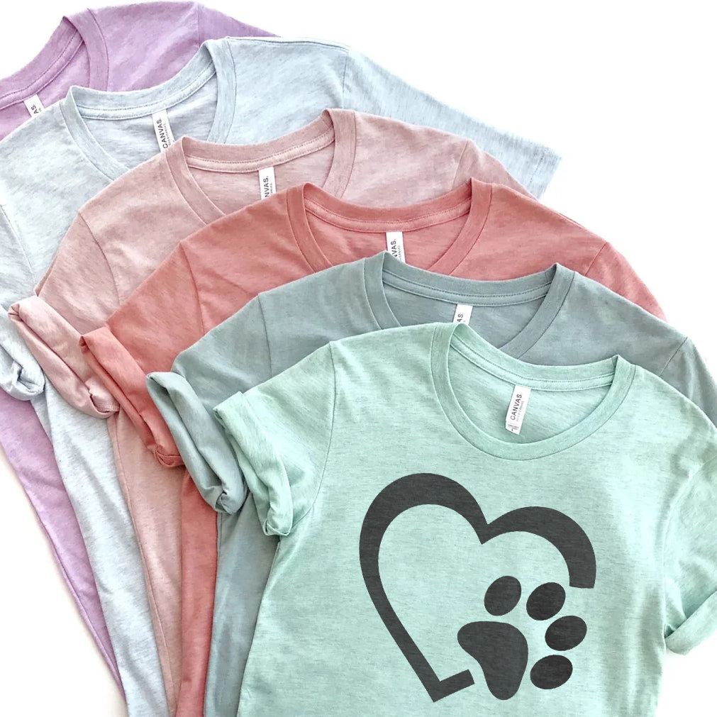 Heart Paw Prism Unisex Tees