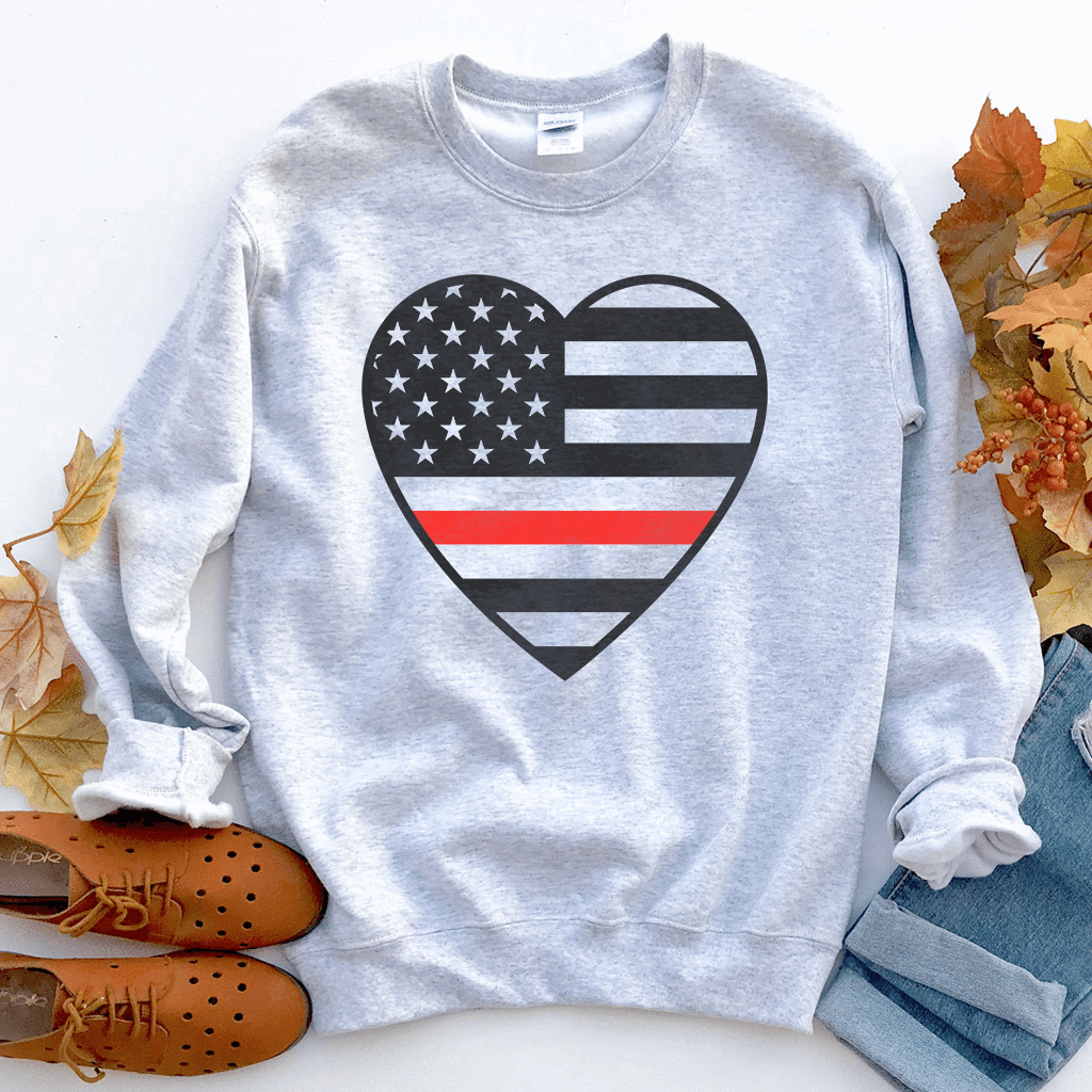 Thin Red Line Heart Unisex Sweatshirt