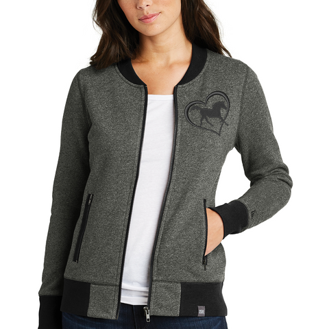 Ladies French Terry Horse Heart Full-Zip
