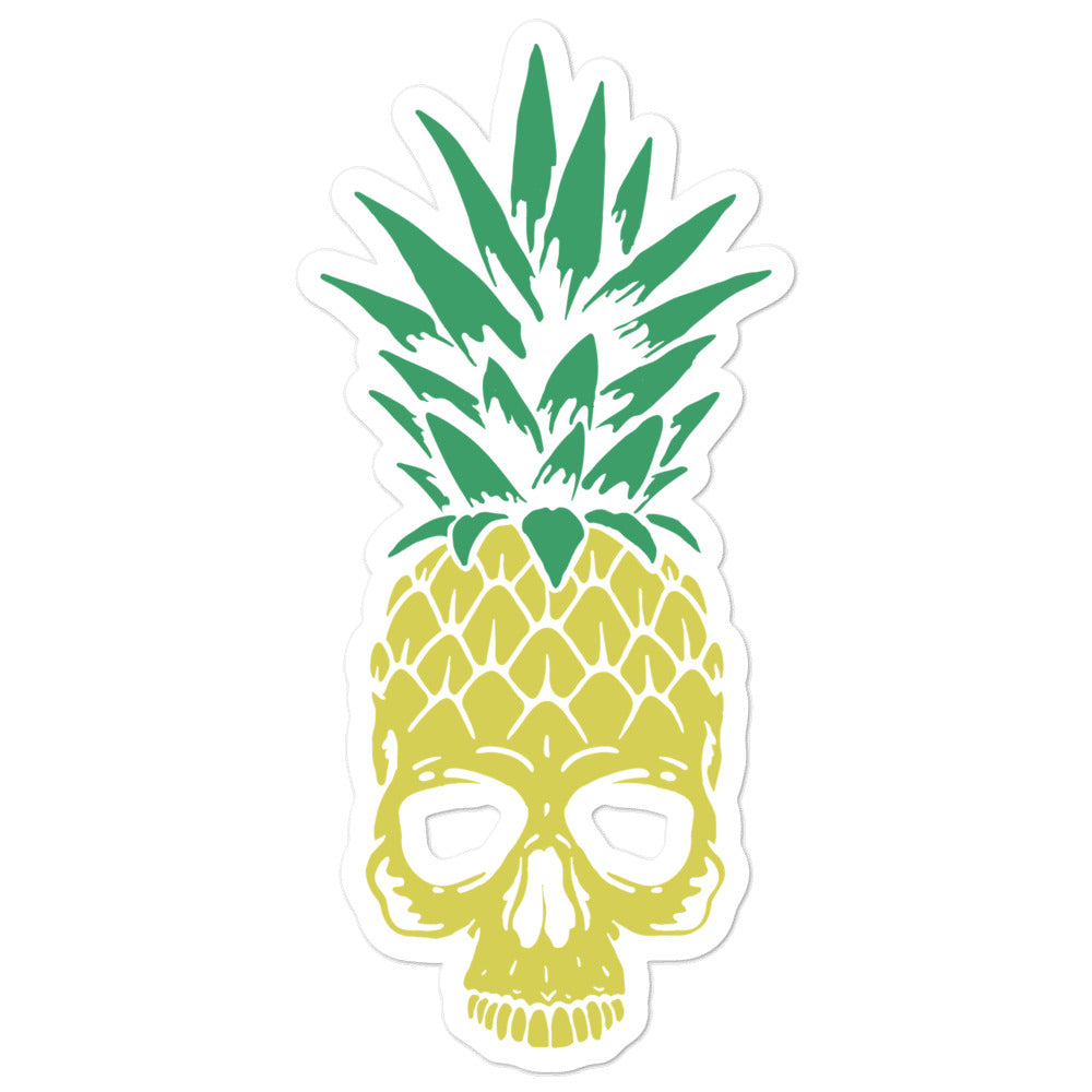 Pineapple Skull Bubble-free stickers
