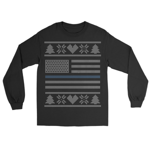 Thin Blue Line Christmas Sweater