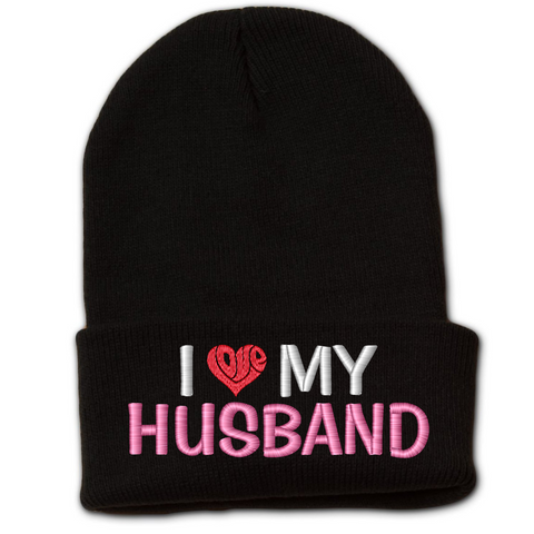 Love My Husband Beanie w/ Cuff
