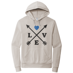 Thin Blue Lines Love Arrows Hoodie