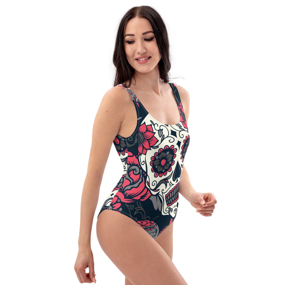 Sugar Skull One-Piece Swimsuit