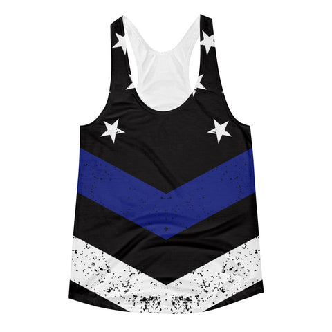 Thin Blue Line Women's Racerback Tank