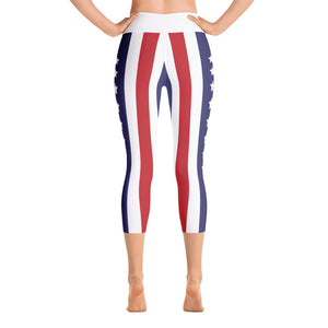 Stars n Stripes Yoga Capri Leggings
