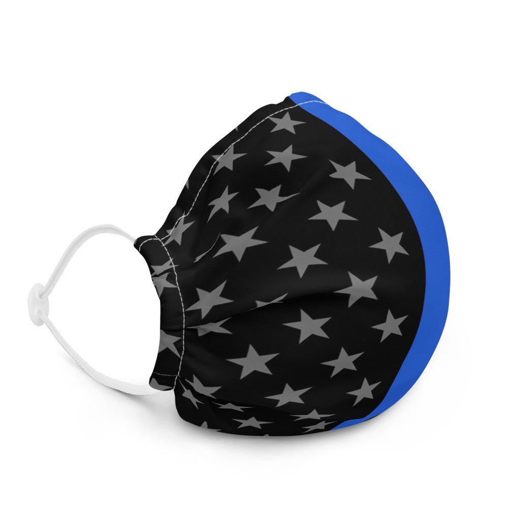 Thin Blue Line Premium Face Mask
