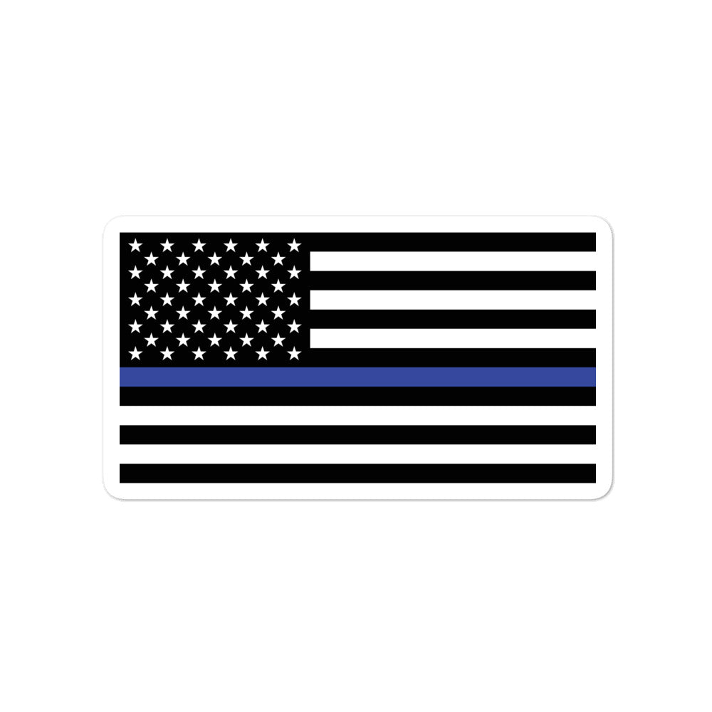 Thin Blue Line Flag Bubble-free stickers