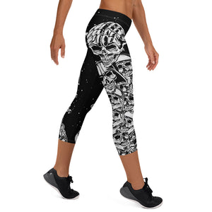 Galaxy War Skull Capri Leggings