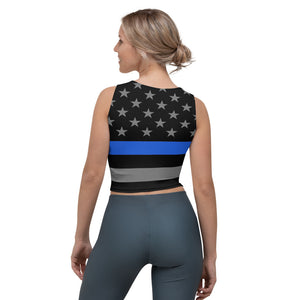 Thin Blue Line Crop Top