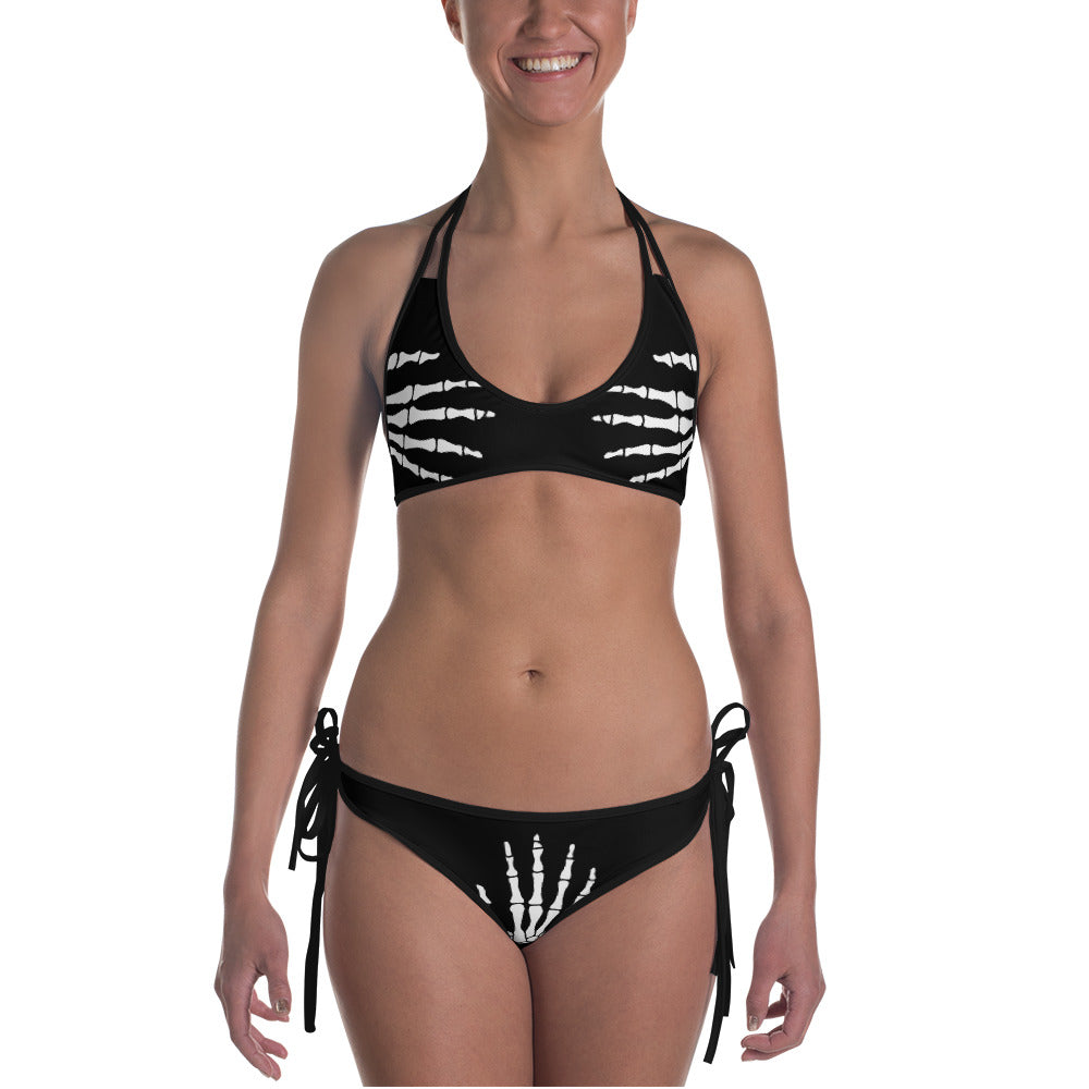 Bad Skeleton 2 in 1 -Reversible Bikini