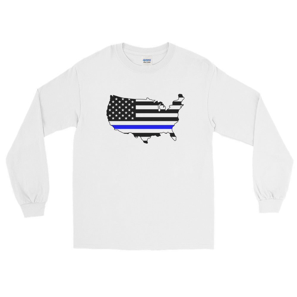Thin Blue USA Long Sleeve Unisex Tee