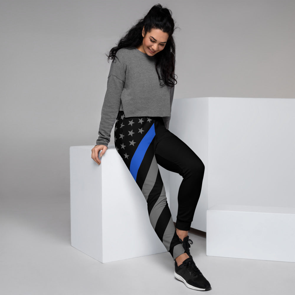 Thin Blue Line Flag Women's Joggers
