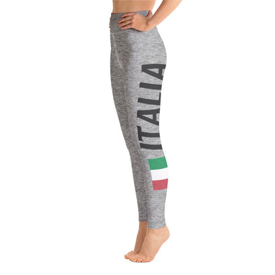 Heathered Gray Italia Yoga Leggings
