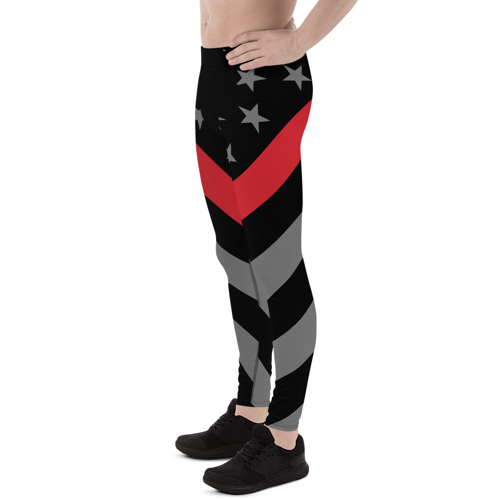 Thin Red Line Flag Men's Leggings