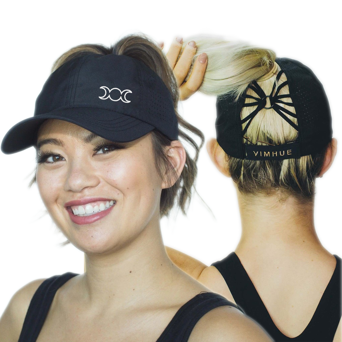 Moon Goddess Ponytail Hat