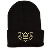 Namaste Lotus Flower Beanie with Cuff