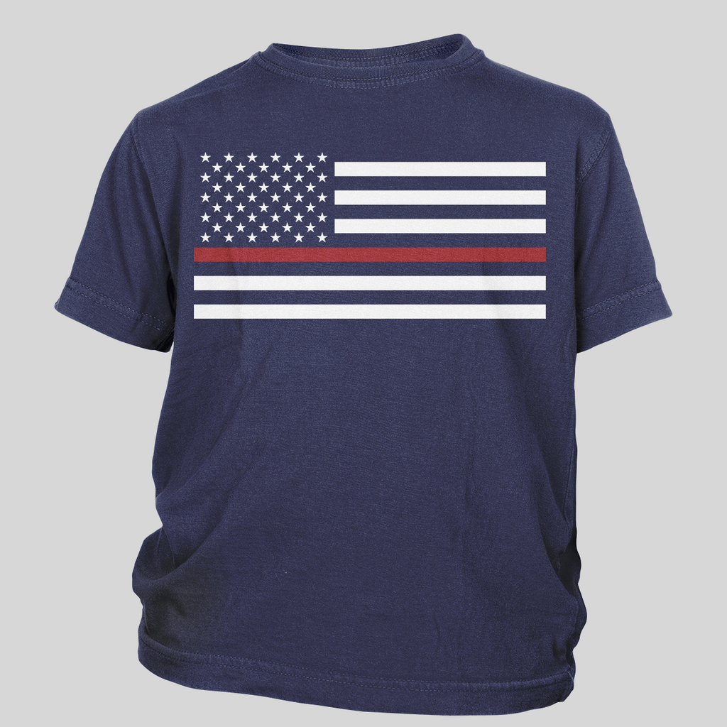 Thin Red Line Flag Toddler Tees
