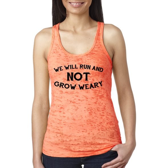 We Will Run And Not Grow Weary Ladies Tank