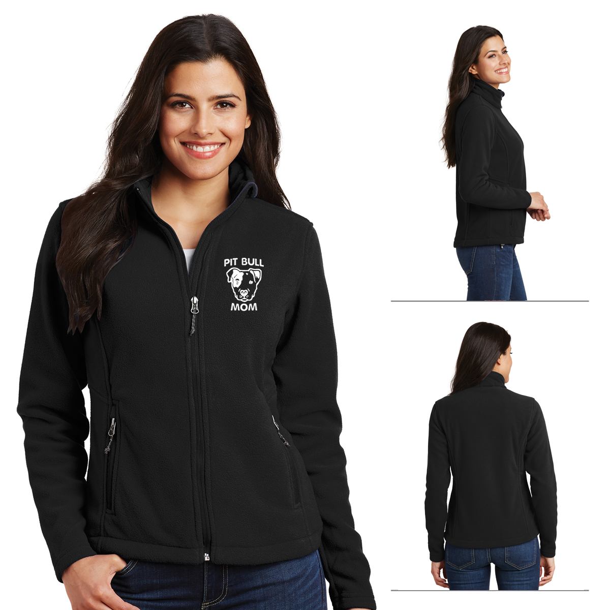 Ladies Microfleece Pitbull Mom Jacket