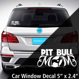 Pit Bull Mom Decal