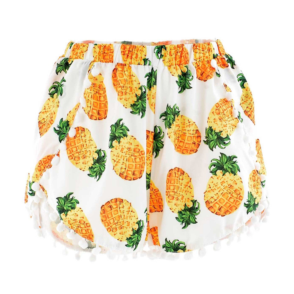 Pineapple Pom Pom Shorts
