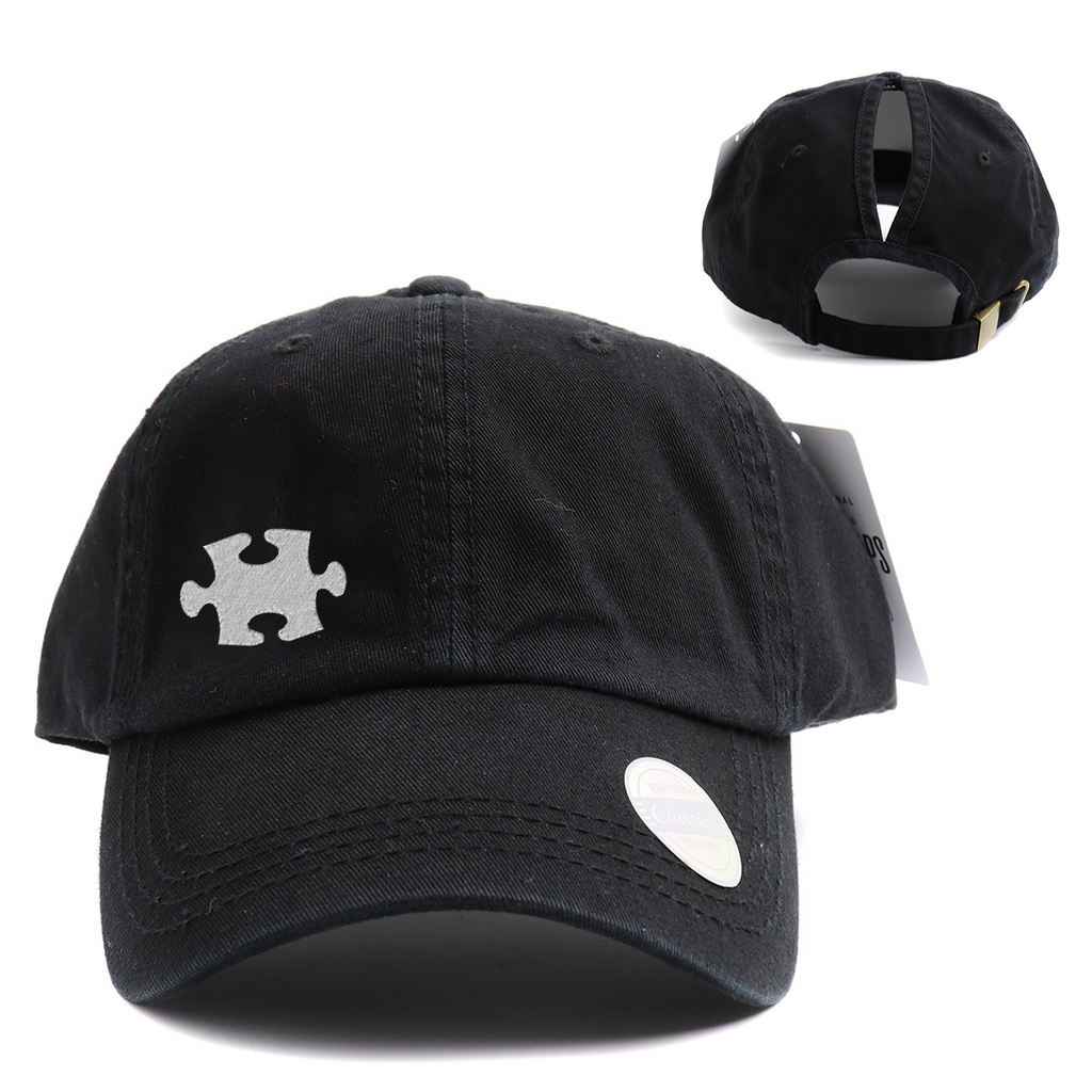 Autism Awareness Classic High Ponytail Hat