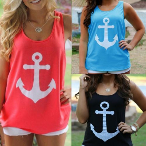 Anchor Vest Tank Top