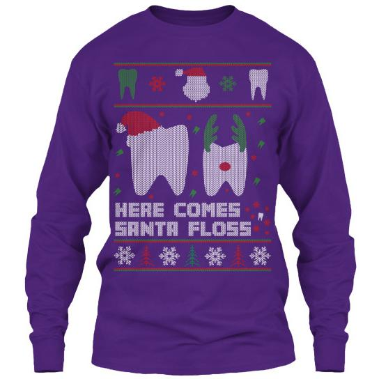 Here Comes Santa Floss Ugly Christmas Sweater