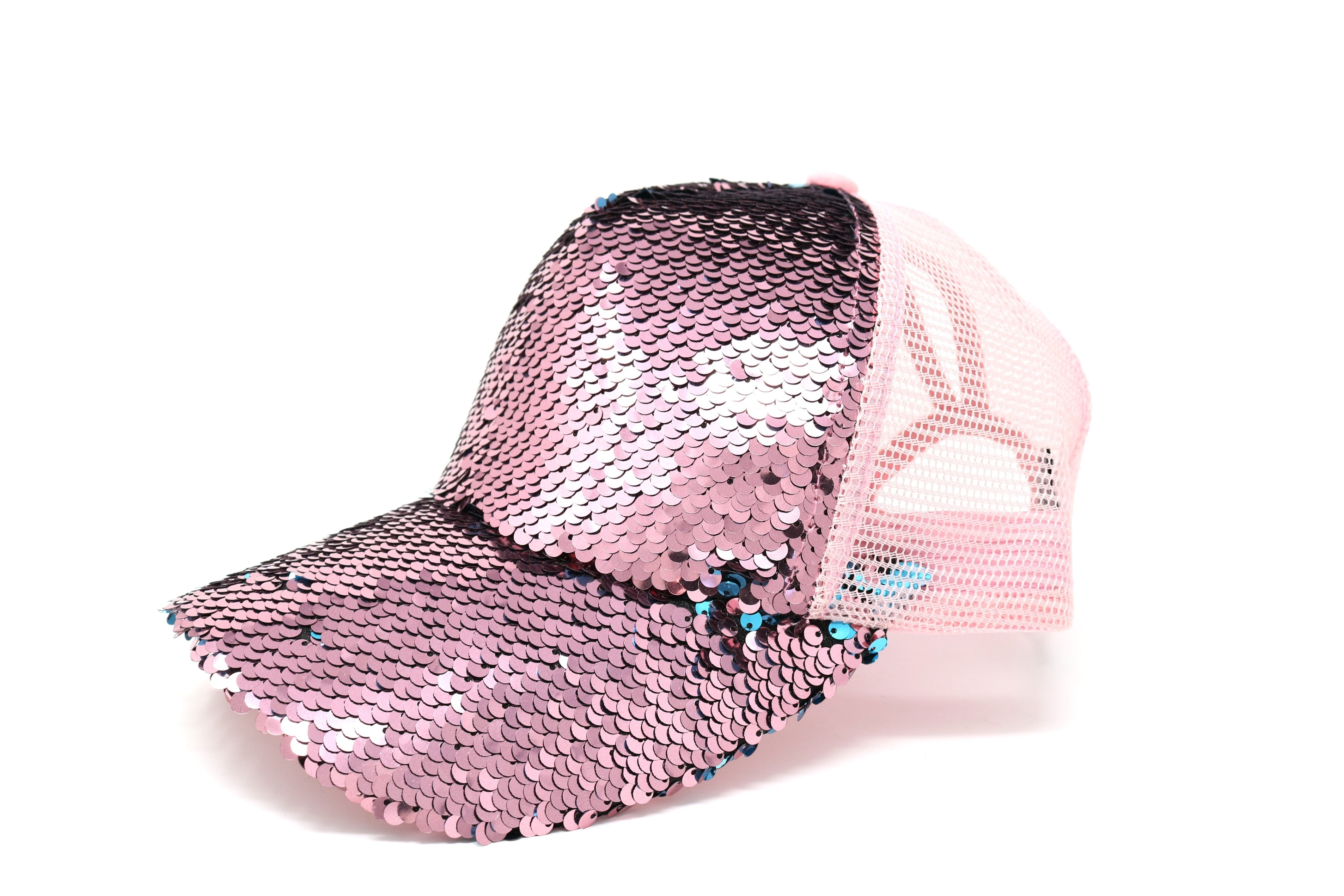 df445adf57b Sequin Mesh Back High Ponytail CC Ball Cap – Shop With Cre