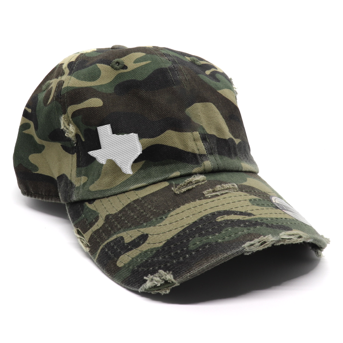 Vintage Camo Texas State Hat